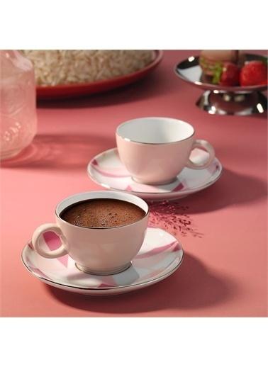 Kütahya Porselen Kütahya Porselen Zeugma 4 Parça 2 Kişilik Kahve Fincan Takımı Renkli